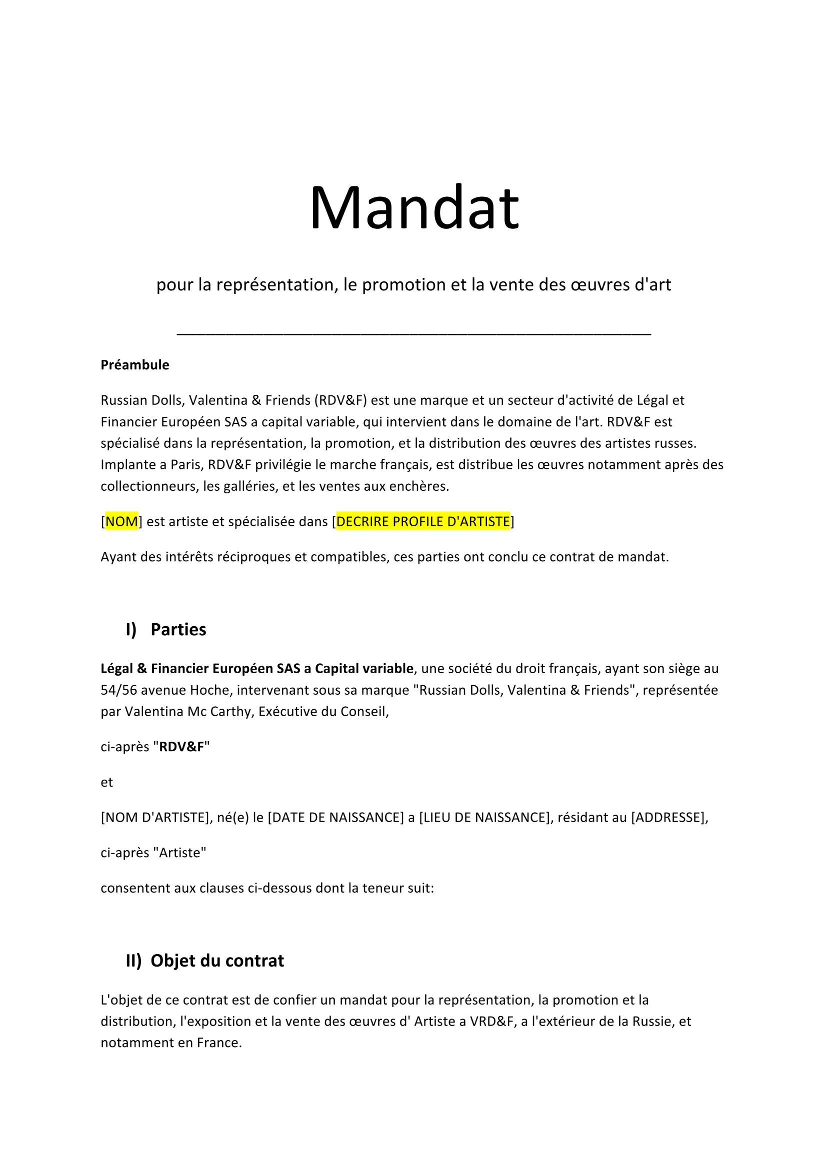 Mandat - Artistes - VRD_F-1